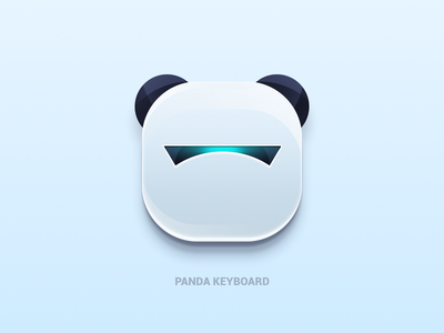 Panda Keyboard keyboard icon graphics technology smart ai future logo visual see
