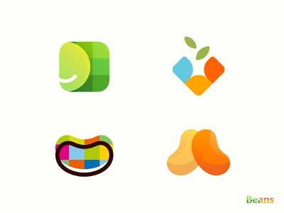 Bean  :) visual design color graphics logo see