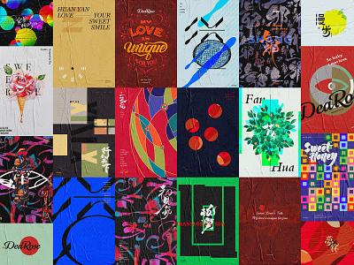 DeaRose Typographic Design calligraphy poster art typefaces 视觉 typographic