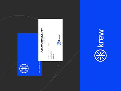 Krew minimal logotypes logodesign identity branding logotype logo design mark logo