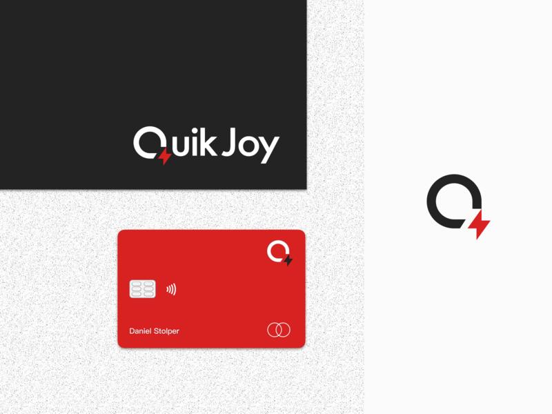 Quik Joy modern minimal logistics logo design identity branding mark logotype logo