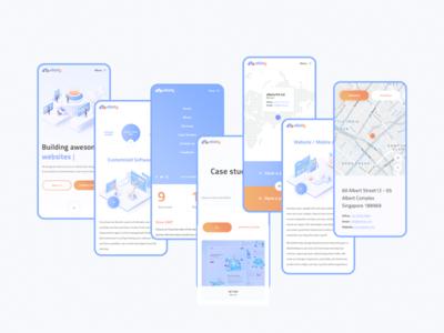 eBizity adaptive minimal illustraion studio gradient singapore china mobile ui web