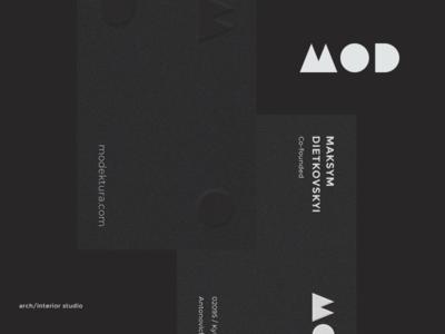 Modektura freelance minimal black  white black mark architecture branding identity logo