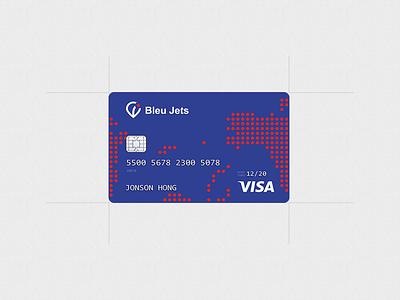 Bleu Jets. Credit card credit card logo branding red blue cloud service charter jet air