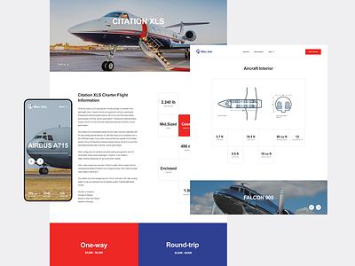 Bleu Jets. About Jet ui mobile minimal modern web private jet private service helicopter aero jet