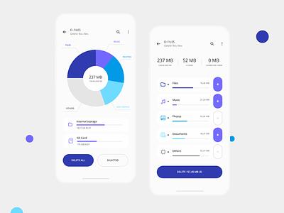 D-files minimal ios android app clean blue modern mobile ui