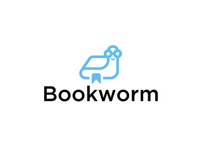 Bookworm - Thirty Logos Day #14 logo design graphic design mark logo worm book thirtylogos