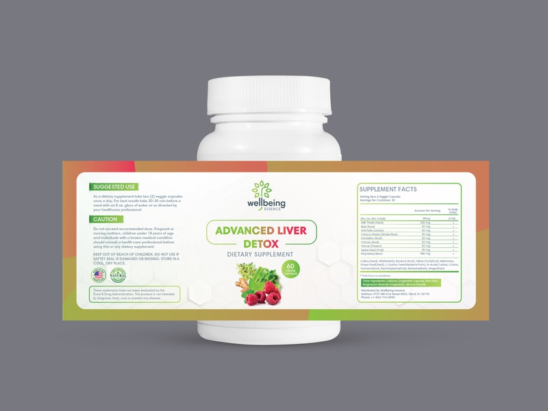Label Design supplement graphic design design branding ui illustrator contemporary modern wellness health detox wellbeing nutrition label labeldesign packaging design packaging