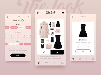 The look wardrobe filters dress look dailyui daily mobile interface app sketch ux ui