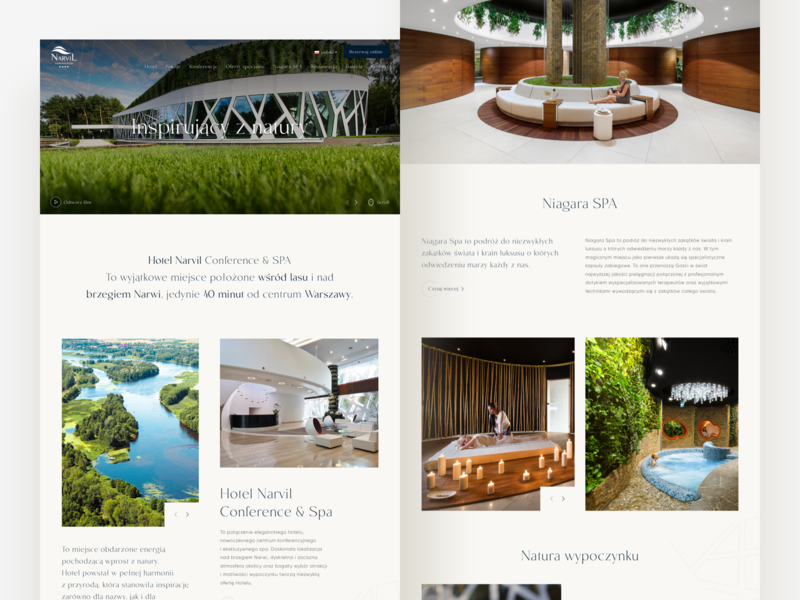 Hotel Narvil 🌳 lp landing clean visual ui elements components interface experience ux ui typography website web design webdesign