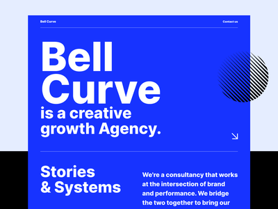 Bell Curve — Landing page shapes growth swiss style swiss bold lp landing clean visual ui elements components interface experience ux ui typography website web design webdesign