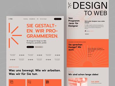DesignToWeb — Website bold color bold landingpage landing page lp uxui swiss style swiss visual landing components website web design ux ui web typography webdesign clean shapes