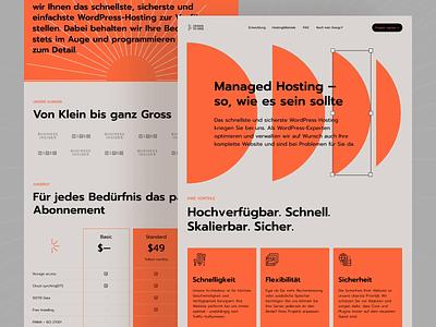 DesignToWeb — Services lp landingpage bold shapes web visual swiss style swiss uxui landing page components website web design landing typography ux ui webdesign clean bold color
