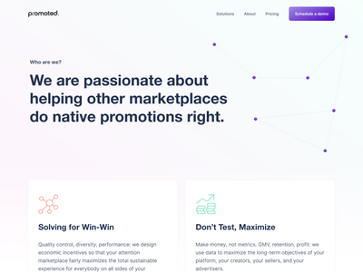 💡Promoted.ai — subpages design web website webdesign typography ui ux experience interface components ui elements visual clean landing lp animation motion interaction microinteraction interactive