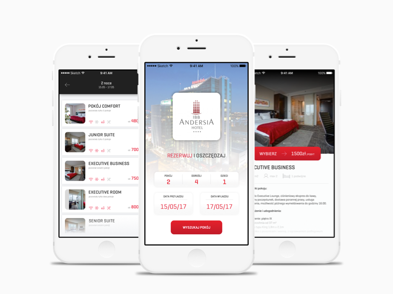 Booking room app product sketch design app ios simple clean hotel ui booking
