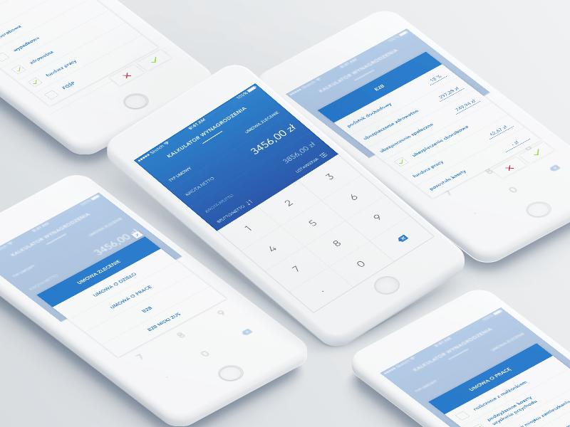 salary calc 💸 salray ui mobile app sketch calculator product design poznan poland