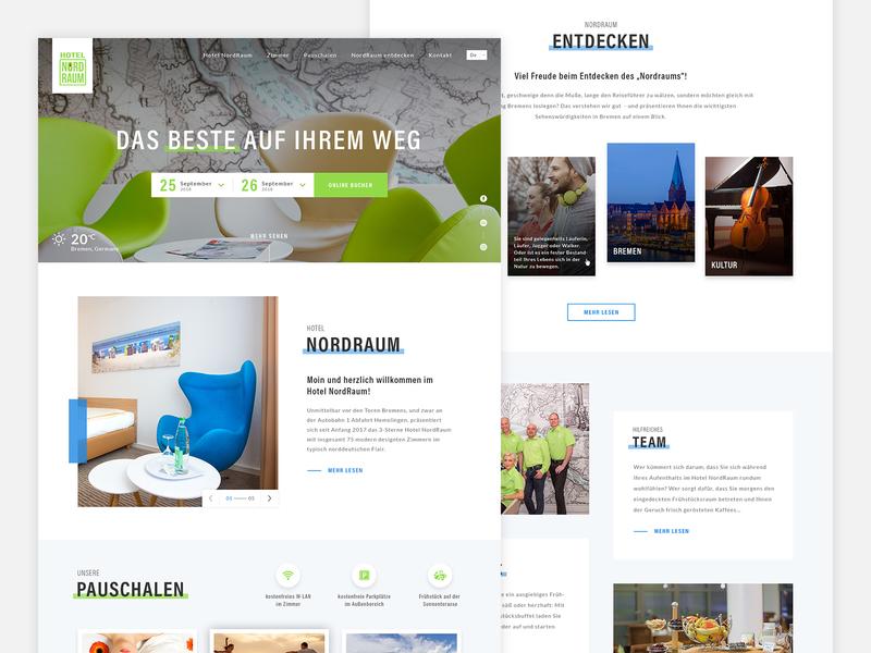 Hotel Nordraum 🍏 clean landing design ui hotel landing page web webdesign