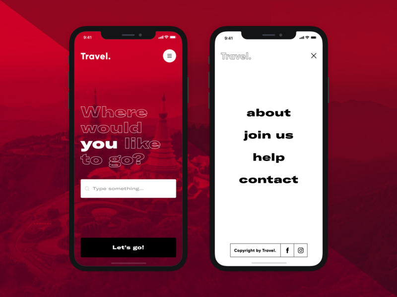 Travel. - mobile ⚡️ typography ux design clean mobile app sketch product design ui