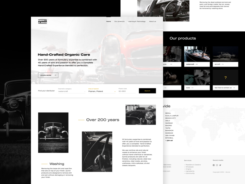 Zymol concept ⚡️ clean webdesign typography landing page site ui user inteface website webpage concept layout user experience ux