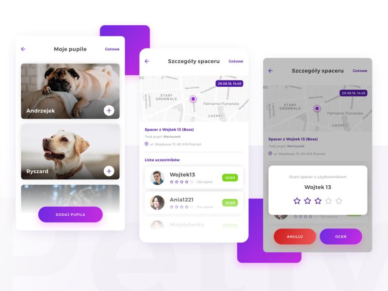 Pets & User rates 🐶 user experience uiux pet dog sketch design mobile ux clean app product design ui