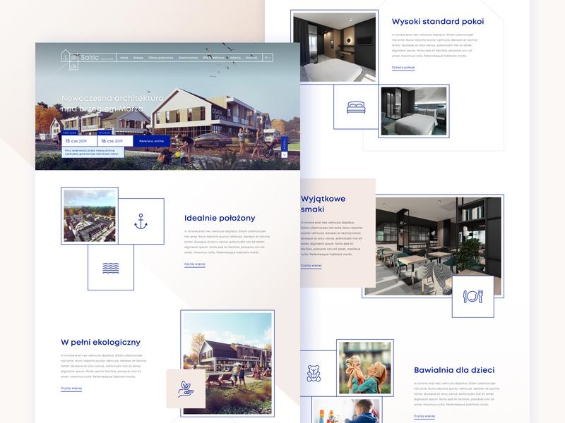 Modern Hotel 🏨 landing page web design homepage booking ux sketch landingpage web gradient icons travel hotel webdesign typography design clean ui