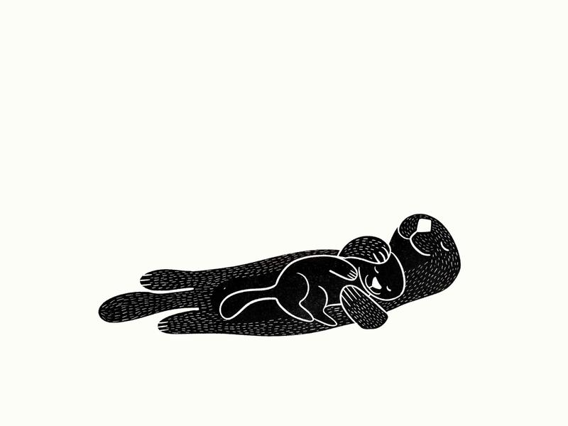Otter and plants illustration procreate illustration identity restaurant branding food illustration grapes artichoke nature illustration vegetables branding animals illustrated motherhood mother animal illustration otters otter