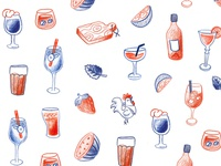 Illustration for Victor & Charly's menu
