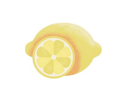 Textured Illustration lemon texture illustration food vector illustration food illustration