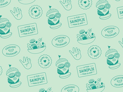 Food icon pattern