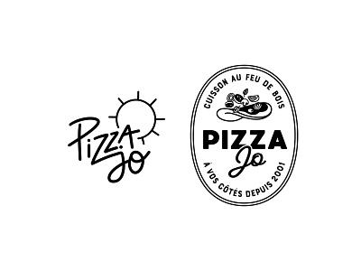 Logo Design - Pizza Jo Food Truck food illustration identity branding pizza food truck pizza logo food logo restaurant branding logo design concept logo design branding logo design foodtruck