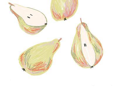 Pear illustration patterndesign fruit design textildesign illustration