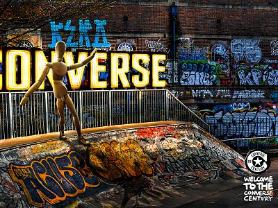 Converse Brazil psd converse skate retouching neon magazine