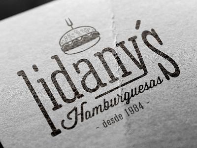 Lidany´s Burgers logo logo vintage retro burger hamburger identity illustrator illustration