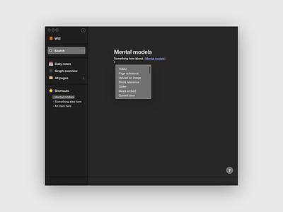Roam Research quick UI design concept redesign roamresearch ui