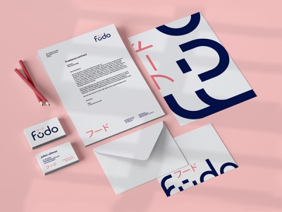 Fūdo Stationary branding