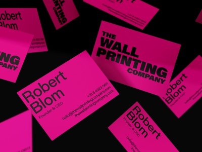 The Wall Printing Company Branding buisness card stationery branding