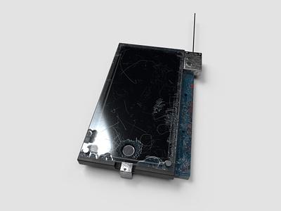 Futuristic iPhone iphone speculative design 3d model