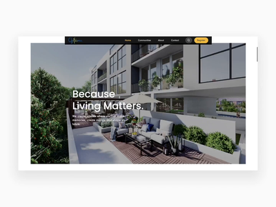 Home page design ui design website clean animation