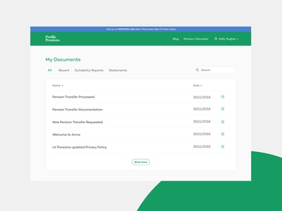 Profile Pensions: Account Hub My Documents
