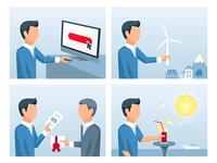 Funding Process Illustrations