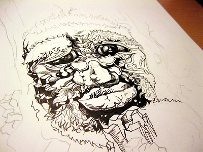 Pen Drawing pen drawing black paper photo