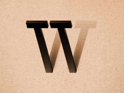 The Letter W w fontfront letter type typography abc brown black type fight