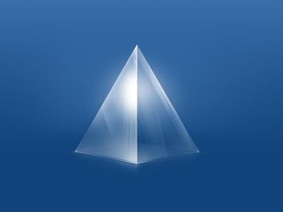 Glass Pyramid glass prism pyramid blue shine