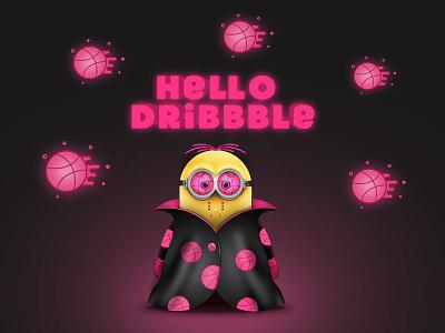 Hello Dribbble minions dribbble