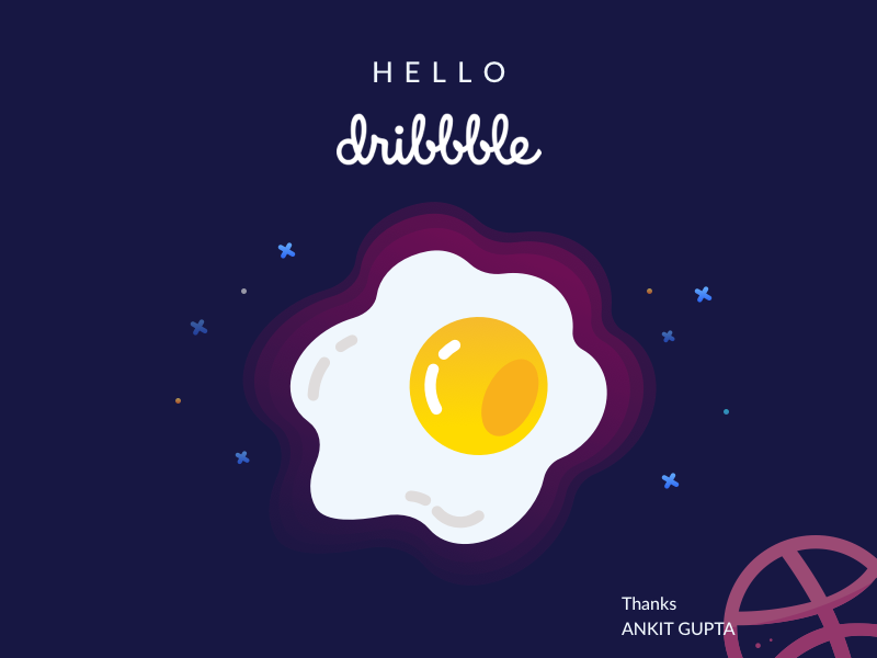 Hello Dribbble debuts born illustration dribbblers
