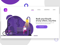 Home Page for Bicycle Booking