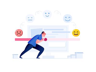 Customer Experience freshworks character mohanraj chennai designer user experience illustration