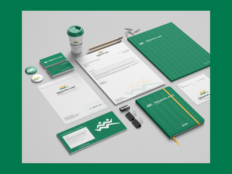 Transplant Sports Stationary branding design branding stationary