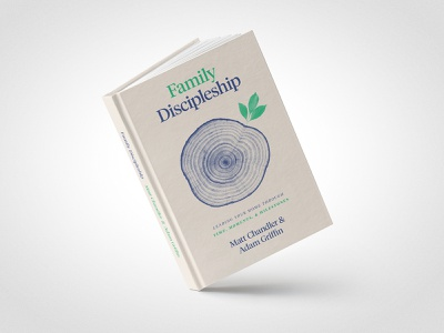 Family Discipleship Book Cover type rings family cover book leaf tree church illustration