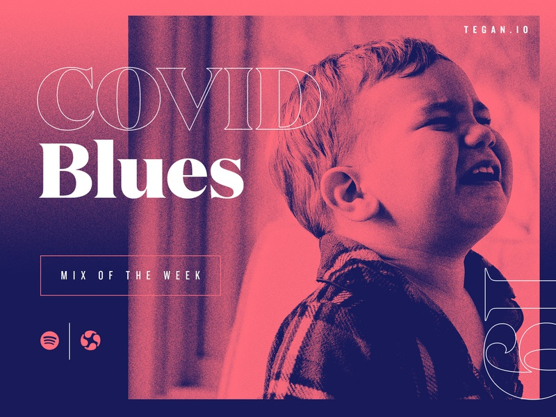 We got the blues. spotify digital marketing dallas studio agency design texture illustration branding mix covid crying music blue red